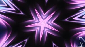 Abstract Artistic Black Colors Digital Art Kaleidoscope Pattern Star 1920x1080 Wallpaper