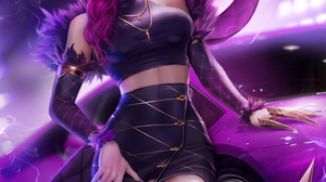 Evelynn League Of Legends League Of Legends Video Games Video Game Characters Fan Art Video Game Gir 2982x4000 Wallpaper