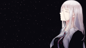 Girl Long Hair Original Anime Stars White Hair 2800x1849 Wallpaper
