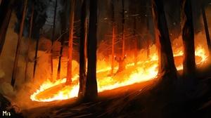 Fire Magic Forest 1920x1089 wallpaper