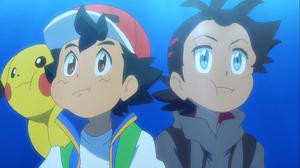 Ash Ketchum Black Hair Blue Eyes Boy Brown Eyes Goh Pokemon Pikachu Underwater 2001x1125 wallpaper