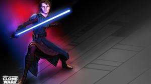 Anakin Skywalker Blue Lightsaber Jedi Lightsaber Star Wars 1920x1200 wallpaper