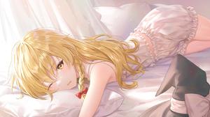 Bed Wink Touhou 1320x858 Wallpaper