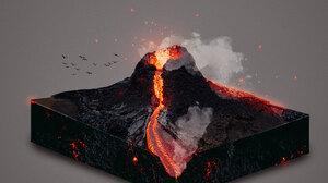 Volcano Eruption Volcanic Eruption Lava 3300x2550 Wallpaper
