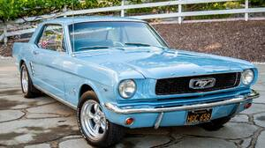 1966 Ford Mustang Blue Car Car Coupe Muscle Car Old Car 2045x1365 Wallpaper