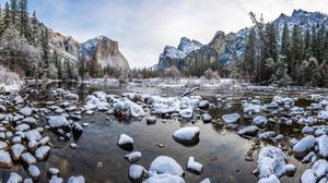 Nature Landscape Winter Mountain Rock 2560x1440 wallpaper