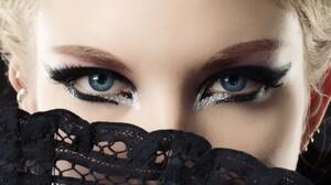 Women Blonde Blue Eyes Makeup Face Eyes 1920x1080 Wallpaper
