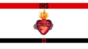 IHS Jesus Christ Sacred Heart Red White Black 1920x1080 Wallpaper