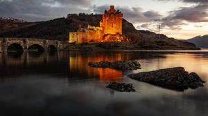 Bridge Castle Eilean Donan Castle Lake Scotland 5730x3820 Wallpaper