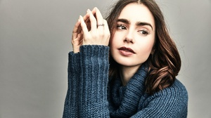 Women Sweater Brunette Eyebrows Long Eyelashes Pullover Young Woman 2048x1365 Wallpaper