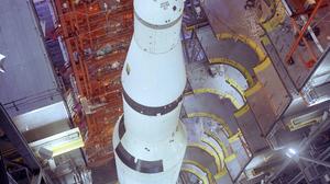 Rocket Spaceship Saturn V Apollo Top View NASA Technology Portrait Display Vehicle Construction Buil 1964x2560 Wallpaper