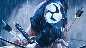 ArtStation Digital Art Sloth Being Artist Illustration Archer Bow Arrow Warrior Rain Ponytail Vertic 1028x1836 Wallpaper