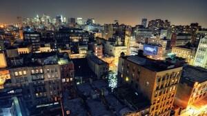 New York Night Noho On Down Roof Usa 1920x1200 Wallpaper