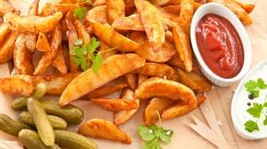 Ketchup Potato Still Life 2000x1333 Wallpaper