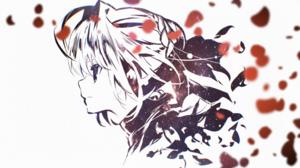 Fate Extra Nero Claudius Petals Stars Universe Low Saturation White Anime Girls Ahoge Dispersion Pro 1920x1080 Wallpaper