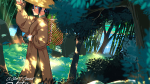 Bamboo Forest Girl 2048x1448 Wallpaper