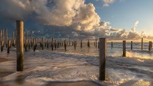 Sea Sky Shore Cloud 2048x1236 Wallpaper