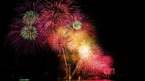 Colorful Colors Fireworks Holiday New Year Night Sky 3600x2400 Wallpaper