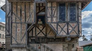 Architecture Building Old Building House Old People Portrait Display Medieval France 1280x1911 Wallpaper