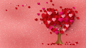 Heart Love Red Tree 1920x1408 Wallpaper