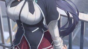 Anime Anime Girls Digital Art Artwork 2D Portrait Display Vertical Yohan1754 Himejima Akeno Ponytail 2160x4096 Wallpaper