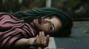 Girl Lying Down Woman 1920x1164 wallpaper