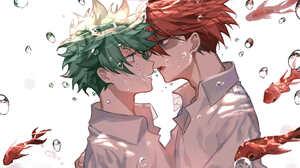 Anime Anime Boys Boku No Hero Academia Shoto Todoroki Izuku Midoriya Todoroki Sh To Midoriya Izuku U 2952x2031 Wallpaper