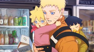 Blonde Boruto Uzumaki Himawari Uzumaki Milk Naruto Uzumaki 2048x1535 Wallpaper