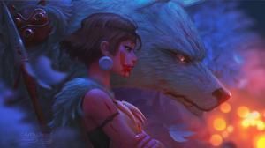 Girl Princess Mononoke Short Hair Wolf 2250x1266 Wallpaper