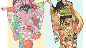 Zombieland Saga Anime Girls Long Hair Blond Hair Redhead Ribbon Japanese Clothes Zombie 1 Sakura Min 1372x1528 Wallpaper