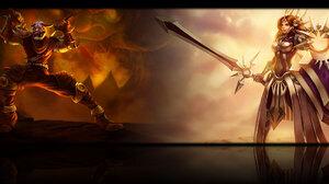 Leona League Of Legends Shen League Of Legends 1920x1200 Wallpaper