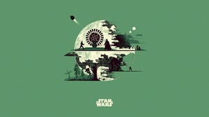 Darth Vader Death Star Luke Skywalker Minimalist Star Wars 5000x2500 Wallpaper