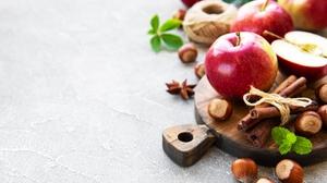 Apple Cinnamon Hazelnut Still Life 5131x3712 wallpaper
