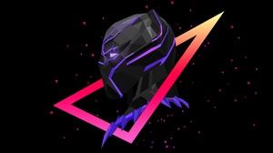 Minimalist Marvel Comics Black Panther Marvel Comics 2560x1440 wallpaper