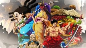 Hyogoro One Piece Kawamatsu One Piece Kiku One Piece Monkey D Luffy Raizo One Piece 2266x1468 Wallpaper