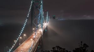Bay Bridge Bridge Fog Light Night San Francisco 2247x1400 Wallpaper