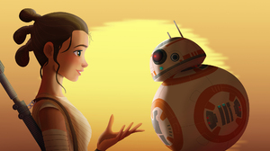 Bb 8 Rey Star Wars Star Wars Star Wars Episode Vii The Force Awakens 2000x1414 Wallpaper
