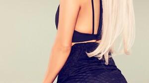 Ariana Grande Women Actress Singer Long Hair Simple Background 1440x2560 Wallpaper