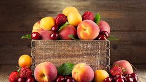 Apricot Cherry Fruit Peach Strawberry 6496x4690 Wallpaper