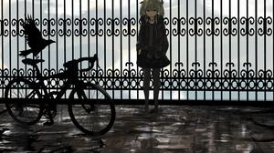 Bike Crow Girl 4093x2952 Wallpaper