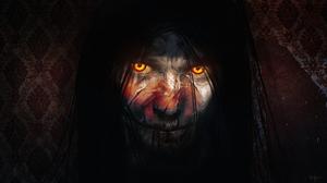 Horror Macabre Woman Yellow Eyes 1920x1080 Wallpaper