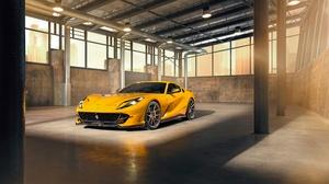 Car Ferrari Ferrari 812 Superfast Grand Tourer Sport Car Supercar Vehicle Yellow Car 4500x3002 wallpaper