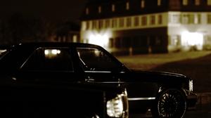Mercedes W126 Black 3D Blender 1940x2251 Wallpaper