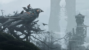 Artwork Fantasy Art Birds Crow Trees Mist 1920x914 Wallpaper