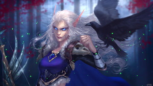 Artwork Fantasy Art Elves Elf Ears Women Crow 1920x1080 Wallpaper