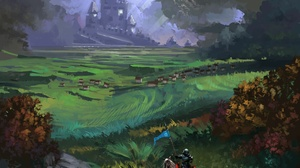 Castle Horse Knight Landscape Warrior 1920x1640 wallpaper