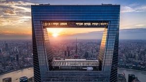 City China Sunset Skyscraper Building 1920x1080 Wallpaper