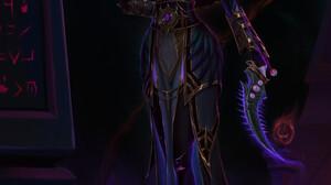 Fanfoxy Drawing Warcraft Priestess Priest Books Spell Shadow Weapon Dagger Purple Dress Dark Xalatat 1429x2000 Wallpaper
