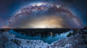 Sci Fi Milky Way 2048x1192 Wallpaper