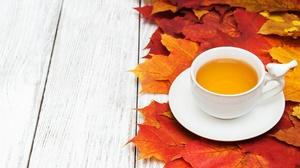 Leaf Cup Drink 3635x2159 Wallpaper